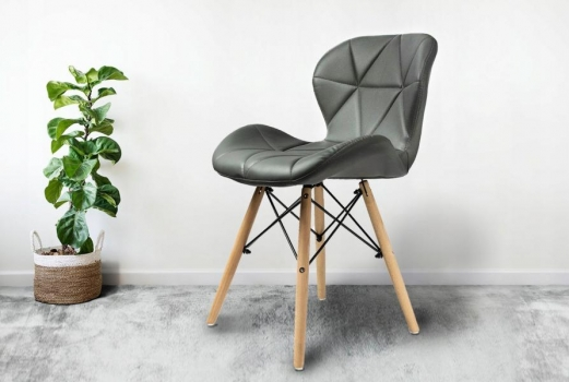 Кресло JUMI Scandinavian Design BLACK (эко-кожа)