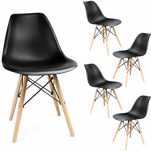 Кресло JUMI Scandinavian Design EPC DSW BLACK